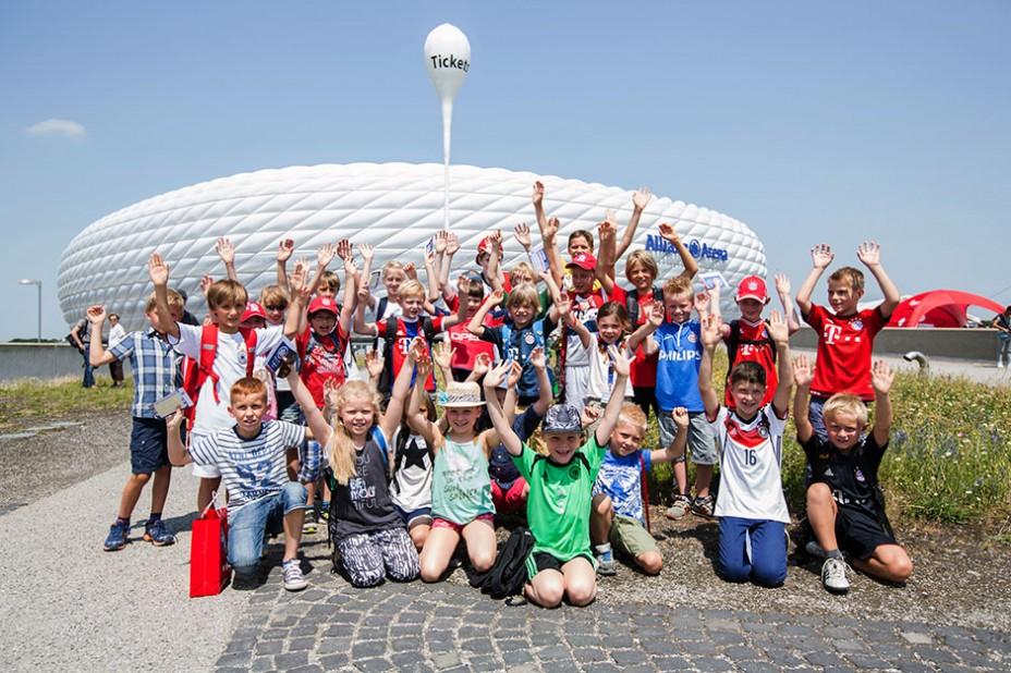 Teampräsentation FC Bayern Allianz Kinderstiftung