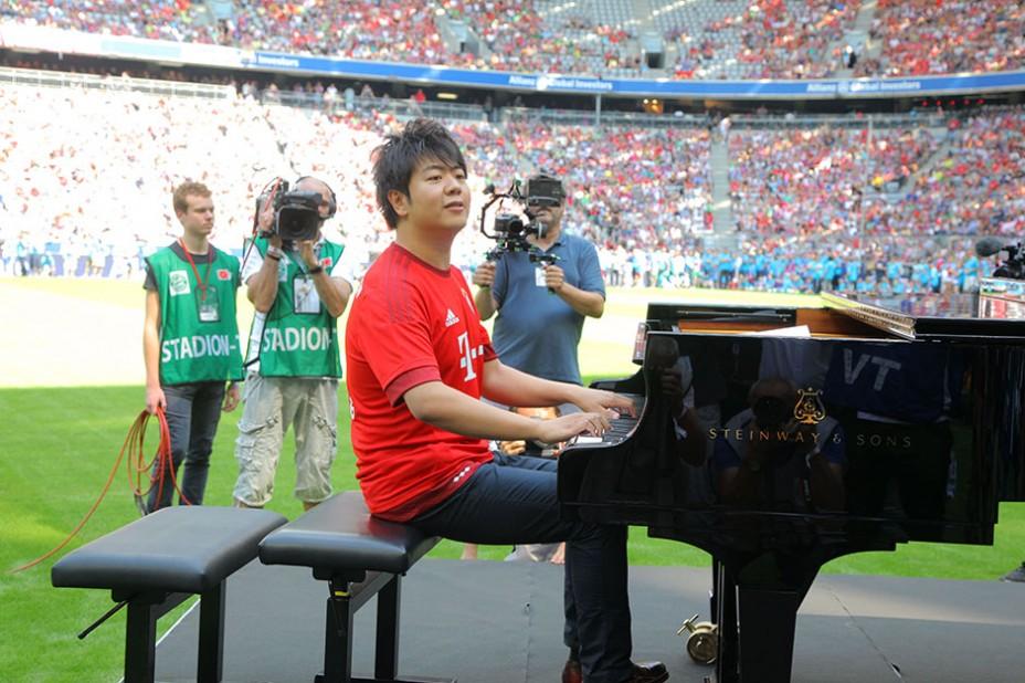 Starpianist und Allianz-Markenbotschafter Lang Lang: Intonierte die FC Bayern-Hymne Stern des Südens