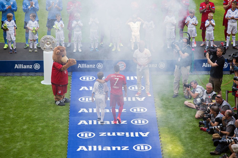 Seit' an Seit' mit FC Bayern-Ikone Franck Ribéry