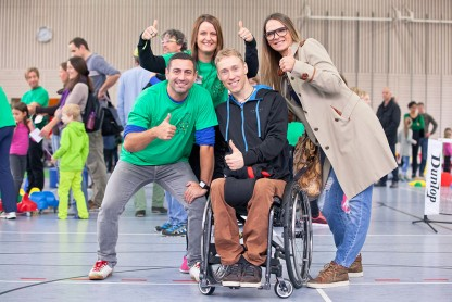 Olympiade für Familien mit behinderten und nichtbehinderten Kindern