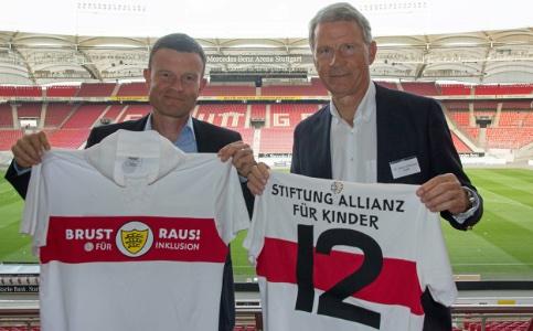Jochen Röttgermann, Vorstand Marketing und Vertrieb VfB Stuttgart und Stiftungsvorstand Hans-Christoph Dölle